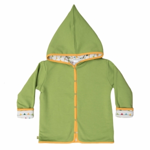Hooded reversible jacket