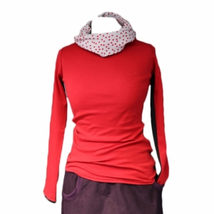 turtleneck sweater with removable neck