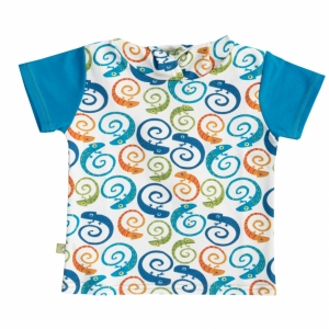 Shirt short-sleeved with hoodie