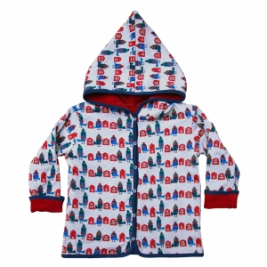 Reversible jacket with hoodie