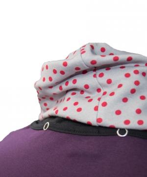 Rollkragenpullover mit abnehmbarem Kragen